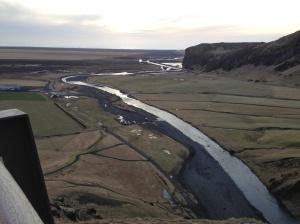 Farm fields along the White River