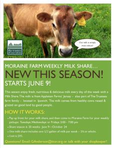 Milk Share Poster Moraine Farm