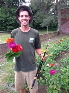 tim in his garden Aug 2014